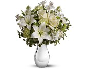Teleflora's Silver Reflections Bouquet in DeKalb, Illinois, Glidden Campus Florist & Greenhouse