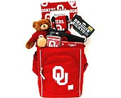 OU40 ''Red and White'' OU Gift Basket in Oklahoma City OK, Array of Flowers & Gifts