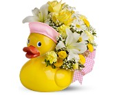 Teleflora's Just Ducky Bouquet - GIRL - Deluxe in Del City OK, P.J.'s Flower & Gift Shop