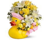 Teleflora's Just Ducky Bouquet - Girl - Premium in Omaha NE, Stems Florist