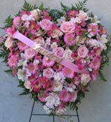 STANDING PINK ENCRUSTED HEART by Rubrums in Ossining NY, Rubrums Florist Ltd.
