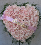 STANDING PINK ROSE HEART by Rubrums in Ossining NY, Rubrums Florist Ltd.