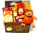 GF113 ''Yummy for My Tummy'' Gourmet Gift Basket in Oklahoma City OK, Array of Flowers & Gifts