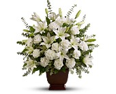 Teleflora's Sincere Serenity in Dallas TX, In Bloom Flowers, Gifts and More