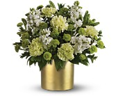 Teleflora's Touch of Gold Bouquet in Dubuque IA, New White Florist