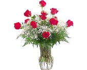 Fort Pierce Flowers - Dazzle Dozen Red Roses - Flowers By Susan