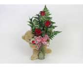 Huggy Bear Bouquet in Royersford PA, Three Peas In A Pod Florist