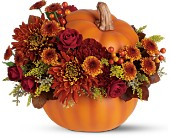 Teleflora's Prize Pumpkin Bouquet in Northumberland PA, Graceful Blossoms