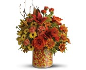 Teleflora's Candy Corn Surprise Bouquet - Deluxe in San Antonio TX, Flowers By Grace