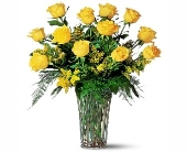 One Dozen Imported Yellow Rose in Seattle WA, Topper's European Floral Design