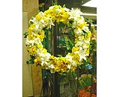 Yellow Wreath in Santa Monica CA, Santa Monica Florist