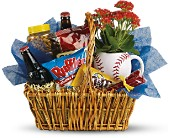 Dad's Play Ball Snack Basket by Teleflora in Kennesaw GA, Kennesaw Florist