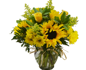 Fort Pierce Flowers - GOLDEN SUNFLOWERS Deluxe - Flowers By Susan