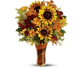 Teleflora's Artful Autumn Bouquet - Deluxe in Eldora IA, Eldora Flowers and Gifts