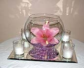 Lily and Candle Centerpiece in Salisbury, Maryland, Kitty's Flowers