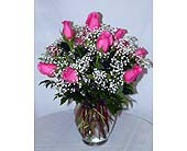 A Dozen Rose Centerpiece in Salisbury, Maryland, Kitty's Flowers