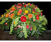 Autumn Expressions Casket Spray in Norwalk CT, Bruce's Flowers & Greenhouses