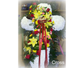 Swag Cross in Staten Island, New York, Kitty's and Family Florist Inc.