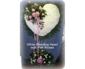 White Heart with Break in Staten Island, New York, Kitty's and Family Florist Inc.