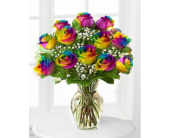 Rainbow Roses in San Angelo TX, Bouquets Unique Florist