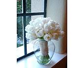 All White Tulip Bouquet in Sarasota, Florida, Flowers By Fudgie On Siesta Key