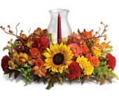 Delight-fall Centerpiece in San Francisco CA, Abigail's Flowers