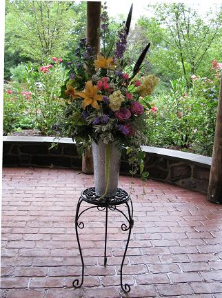 Wildflower Altar Arrangement in Quakertown, Pennsylvania, Tropic-Ardens, Inc.