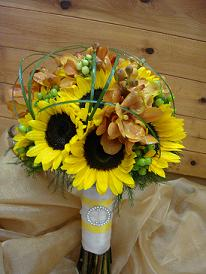 Yellow Bouquet in Cerritos CA, The White Lotus Florist