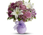 Teleflora's Precious in Purple in Anchorage AK, Evalyn's Floral