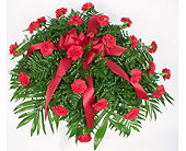 Small Carnation Casket Spray in Indianapolis IN, Gillespie Florists
