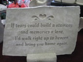 If tears could large stone in Louisville KY, Dixie Florist