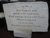 Our hearts Still ache stone in Louisville KY, Dixie Florist