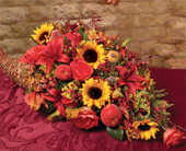 Thanksgiving Cornucopia in Sylmar CA, Saint Germain Flowers Inc.