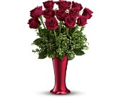 Teleflora's Red Hot Dozen in San Jose CA, Almaden Valley Florist