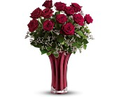 Teleflora's Ruby Nights Dozen in Merced CA, A Blooming Affair Floral & Gifts