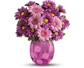 Las Vegas Flowers - Teleflora's Lots of Dots Bouquet - Windmill Floral Expressions