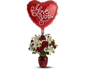 Be My Love with Balloon in San Clemente CA, Beach City Florist