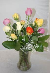 Colored Rose Arrangement $39.99