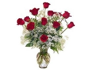 Stuart Flowers - True love 12 Long Stem Red Roses - Flowers By Susan