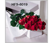 Classic 1 Dozen Long-Stemmed Roses - Red - Boxed in Fairfield CT, Hansen's Flower Shop and Greenhouse