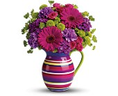 Teleflora's Rainbow Pitcher Bouquet in Dover NJ, Victor's Flowers & Gifts