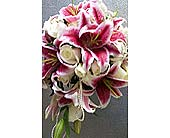 Bridal Bouquet Lilies and Roses in Pasadena, Maryland, Maher's Florist