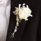 White Rose Boutonniere in Carrollton TX, Blooms on the Square