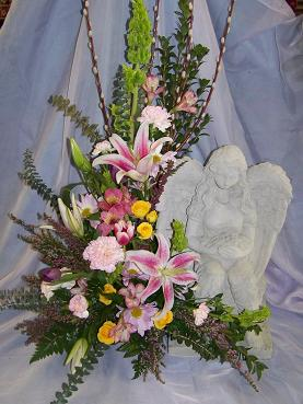 garden angel with flowers in Crown Point IN, Debbie's Designs
