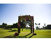 Ceremony in West Los Angeles, California, Westwood Flower Garden
