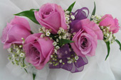 LAVENDAR SPRAY ROSE CORSAGE in Ossining NY, Rubrums Florist Ltd.