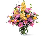 Yellow and Lavender Delight in Nationwide MI, Wesley Berry Florist, Inc.