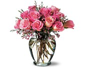 A Pretty Pink Dozen in Nationwide MI, Wesley Berry Florist, Inc.