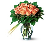 Perfectly Peachy Roses in Charlotte NC, Starclaire House Of Flowers Florist
