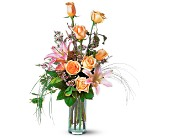 Conroe Flowers - Rose and Lily Splendor - Top Florist